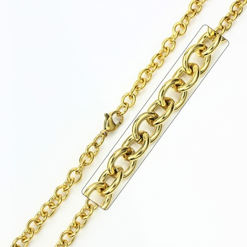 Wholesale Stainless Steel Gold Plated Chain - SSC008GP