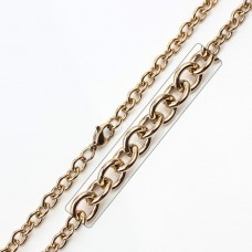 Wholesale Stainless Steel Rose Gold Plated Link Chain - SSC008RGP