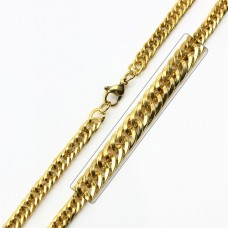 Stainless Steel Gold Plated Link Curb Chain - SSC032GP