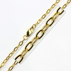 Wholesale Stainless Steel Gold Plated Link Chain - SSC033GP