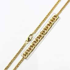 Stainless Steel Gold Plated Link Curb Chain - SSC036GP
