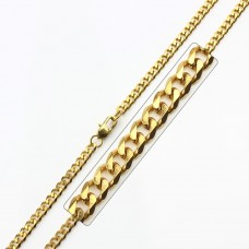 Wholesale Stainless Steel Gold Plated High Polish Link Curb Chain - SSC037GP