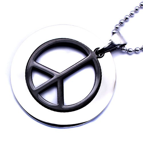 Wholesale Stainless Steel Peace Sign Charm Pendant - SSP00439