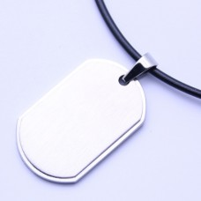 Wholesale Stainless Steel Two Piece Dog Tag Pendant - SSP00462