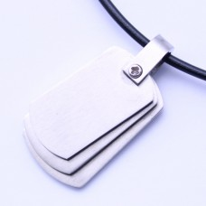 Wholesale Stainless Steel Triple Dog Tag Pendant - SSP00467