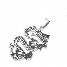 Wholesale Stainless Steel Dragon Charm Pendant - SSP00426