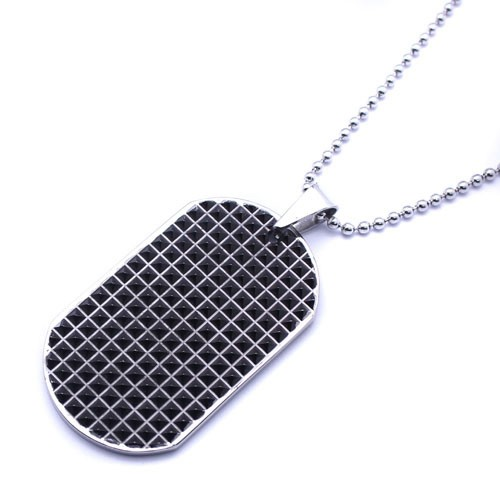 Wholesale Stainless Steel Oxidized Dog Tag Pendant - SSP00443