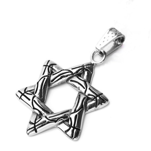 Wholesale Stainless Steel Open Star of David Charm Pendant - SSP00486