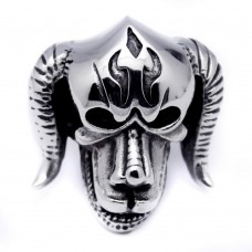 Wholesale Men's Stainless Steel Devil Ring - SRN050