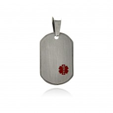 Wholesale Stainless Steel Medical ID Tag Charm Pendant - SSP00345