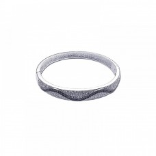 Wholesale Sterling Silver 925 Rhodium Plated CZ Wave Bangle Bracelet - BGG00020