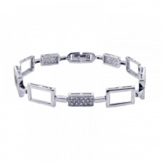 **Closeout** Sterling Silver Rhodium Plated Tennis CZ Bracelet bgb00054