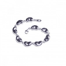 Wholesale Sterling Silver 925 Rhodium Plated Multiple Bean Wire Bracelet - DCB00004