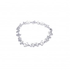 Wholesale Sterling Silver 925 Rhodium Plated Music Note Tennis Bracelet - STB00301