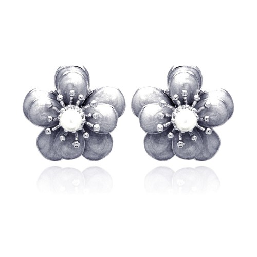 -Closeout- Wholesale Sterling Silver 925 Rhodium Plated Multiple Round Clear CZ Stud Earrings - BGE00183