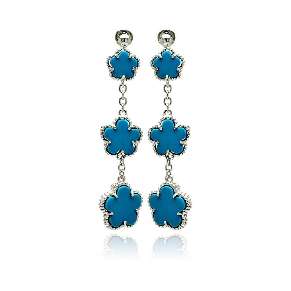 Wholesale Sterling Silver 925 Rhodium Plated Graduated Turquoise ...