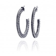 **Closeout** Wholesale Sterling Silver 925 Rhodium Plated Braided Stud Earrings - STE00413