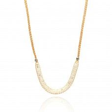 **Closeout** Wholesale Sterling Silver 925 Rose Gold Plated Mesh Necklace Filled with CZ - ITN00024RGP