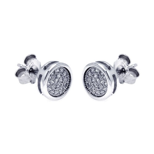 Wholesale Sterling Silver 925 Rhodium Plated Micro Pave Clear Square CZ Stud Earrings - ACE00054