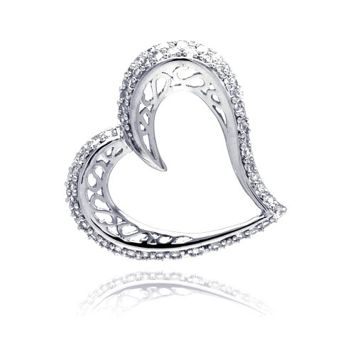 Wholesale Silver CZ Necklace 925 Ladies Sterling Jewelry - ACP00018