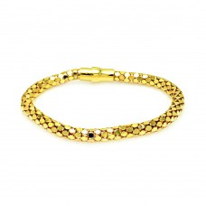 **Closeout** Sterling Silver Gold Plated Snake Skin Italian Bracelet - ITB00003GP