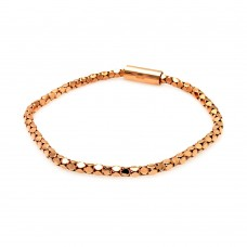 **Closeout** Wholesale Sterling Silver 925 Rose Gold Plated Skinny Multi Circle Italian Bracelet - ITB00015RGP