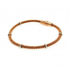 **Closeout** Wholesale Sterling Silver 925 Rose Gold Plated Italian Bracelet - ITB00036RGP
