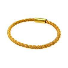 Sterling Silver Gold Plated Rope Italian Bracelet - ITB00086GP