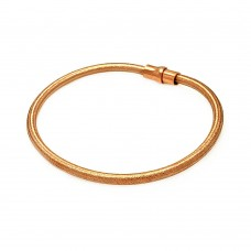 -Closeout- Wholesale Sterling Silver 925 Rose Gold Plated Shiny Italian Bracelet - ITB00092RGP