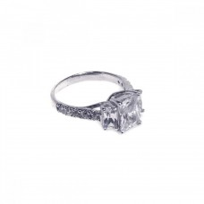 Wholesale Sterling Silver 925 Rhodium Plated Micro Pave CZ Past Present Future Ring - ACR00003