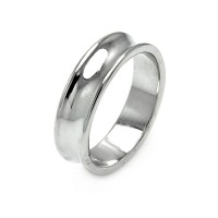 **Closeout** Wholesale Sterling Silver 925 Rhodium Plated High Polished Border Ring - STR00020