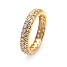 Wholesale Sterling Silver 925 Gold Plated CZ Eternity Ring - STR00512