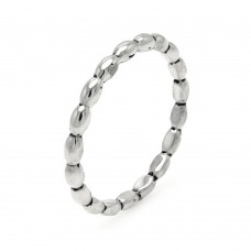 **Closeout** Wholesale Sterling Silver 925 Rhodium Plated Stackable Eternity Bead Ring - STR00894