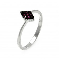**Closeout** Wholesale Sterling Silver 925 Rhodium Plated Small Red CZ Marquis Ring - STR00907