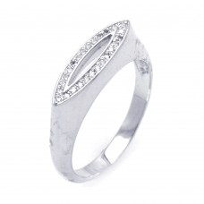 Sterling Silver Rhodium Plated Micro Pave CZ Seed Ring - ACR00031