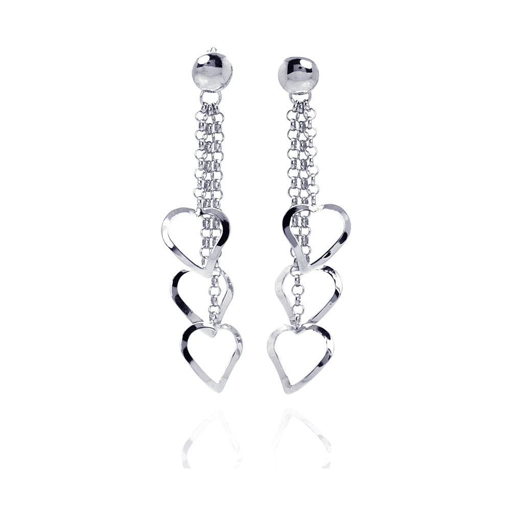 Wholesale Sterling Silver 925 Rhodium Plated Multiple Open Heart ...