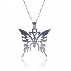 Stainless Steel Abstract Butterfly Charm Pendant ssp00053