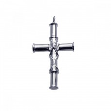 Stainless Steel Bamboo Cross Charm Pendant ssp00014