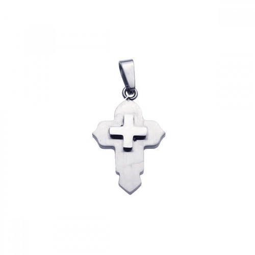 Wholesale Stainless Steel Small Cross Charm Pendant - SSP00016