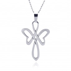 Wholesale Stainless Steel Stylized Cross Pendant - SSP00040