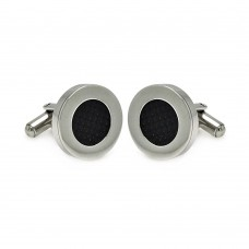 Stainless Steel Disc Carbon Fiber Cufflinks scu00001