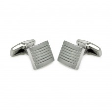 Stainless Steel Stripe Square Cufflinks scu00002
