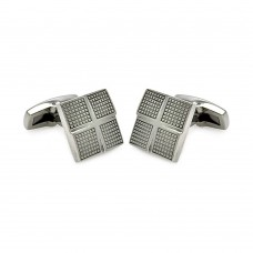 Wholesale Stainless Steel 925 Cross Square Cufflinks - SCU00003