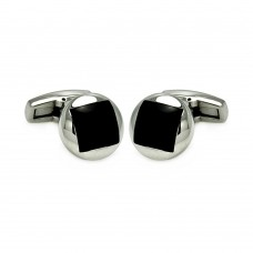 Stainless Steel Disc Enamel Cufflinks scu00006