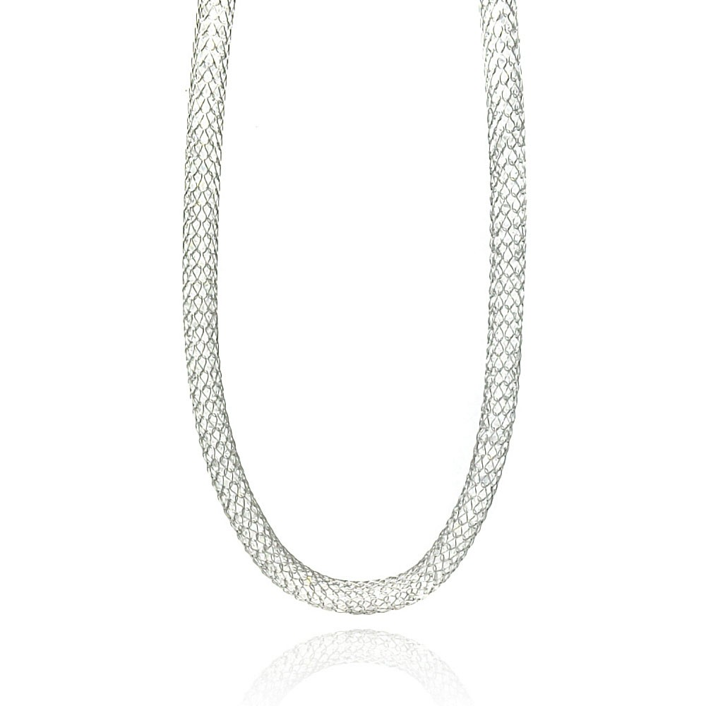 Wholesale Stainless Steel Clear CZ Net Necklace - SSC00023