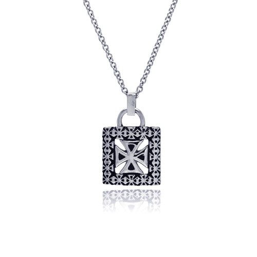 Wholesale Stainless Steel Cross Padlock Necklace - SSN00031