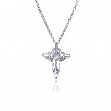 Wholesale Stainless Steel Abstract Cross Necklace - SSN00033