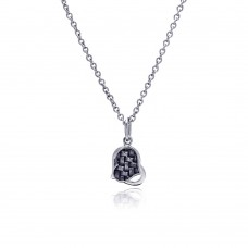 Wholesale Stainless Steel Four Heart Hanging Necklace - SSN00034