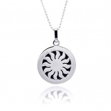 Wholesale Stainless Steel Sun Disc Dog Tag Charm Pendant - SSP00060