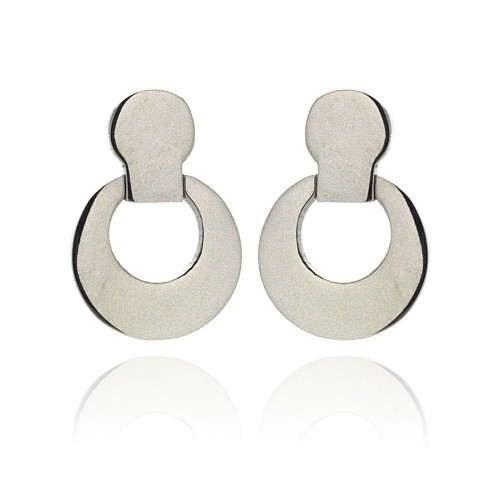 Wholesale Stainless Steel Open Round Hanging Stud Earring - SSE00017